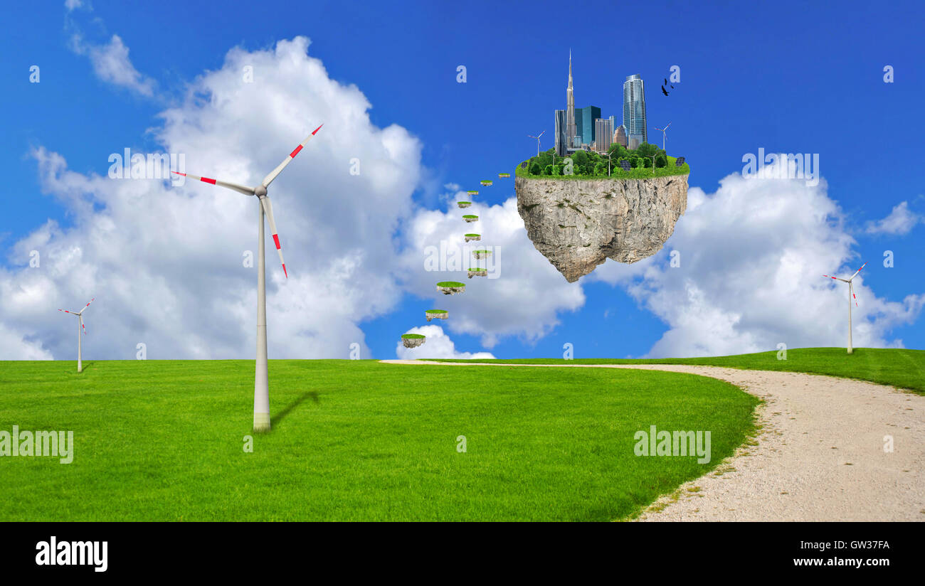 Eco planet, earth, globe, environmental - Stock Image