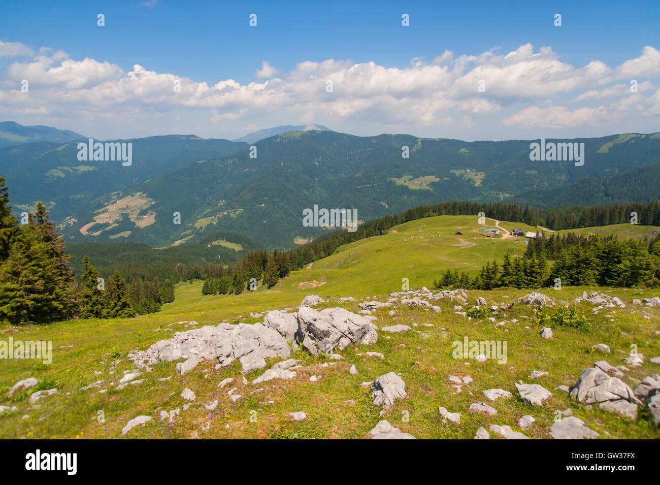 Ski resort Golte, Slovenia - Stock Image