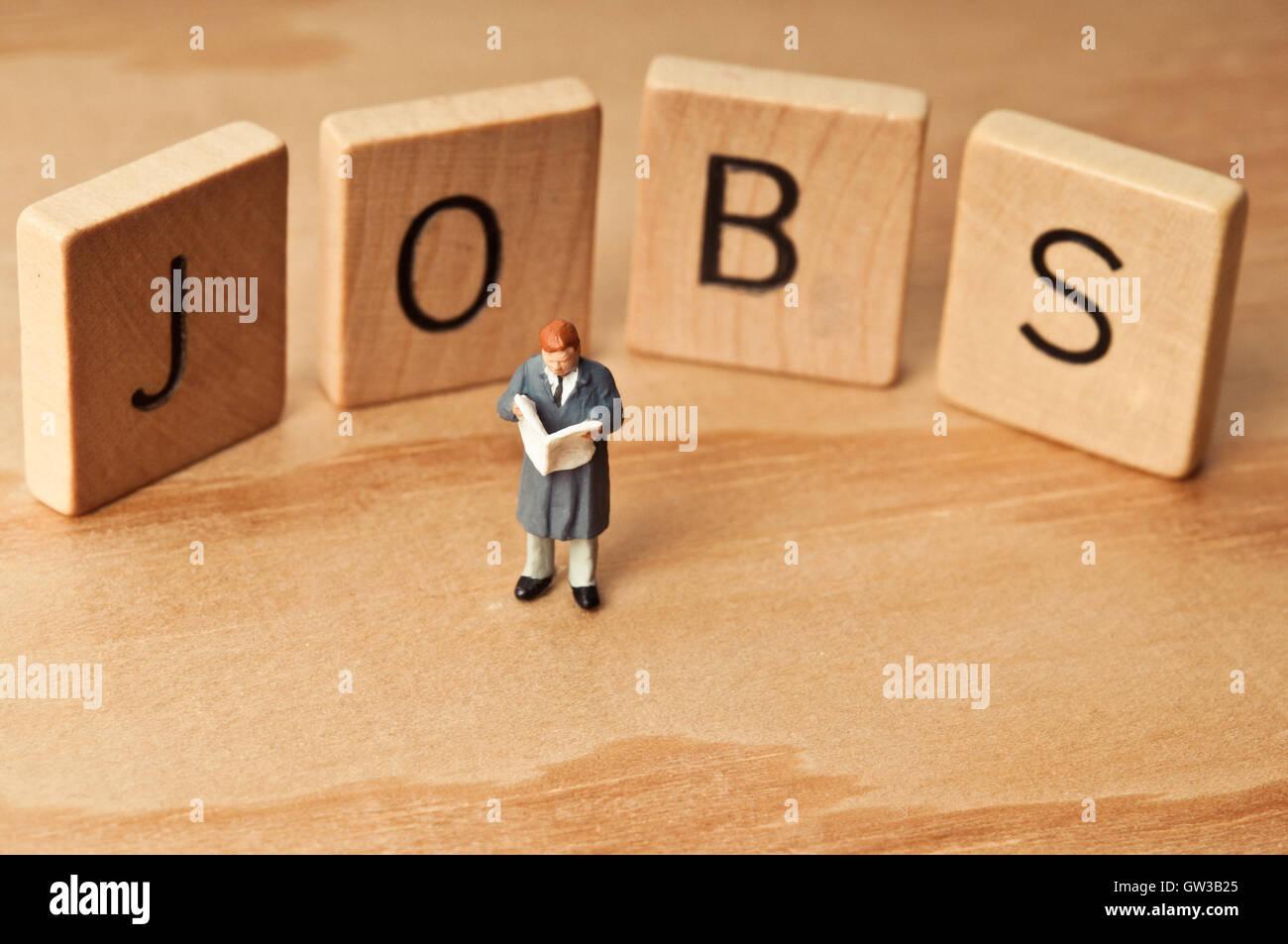 job seeking concept - Stock Image