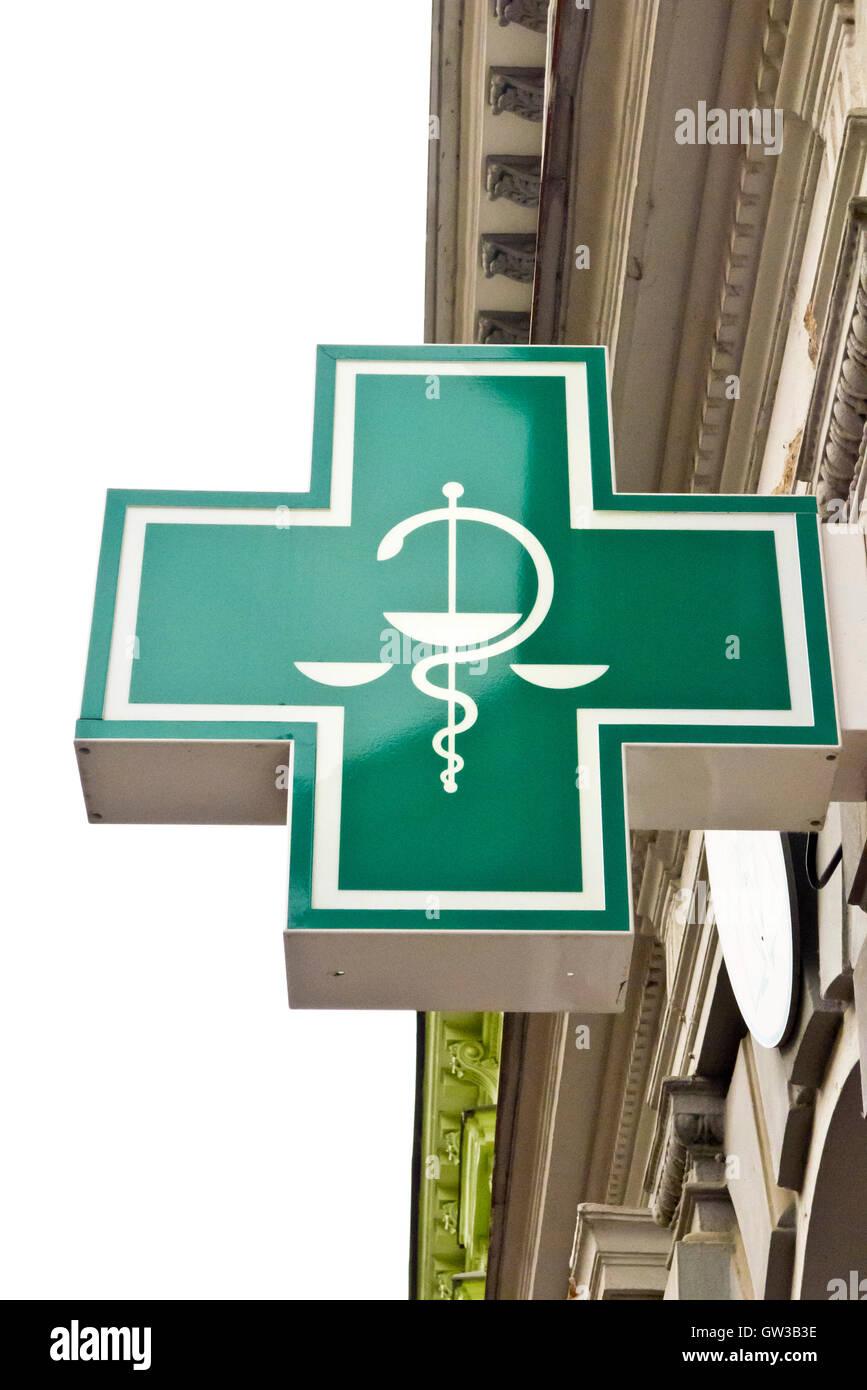 caduceus symbol of medicine - Stock Image