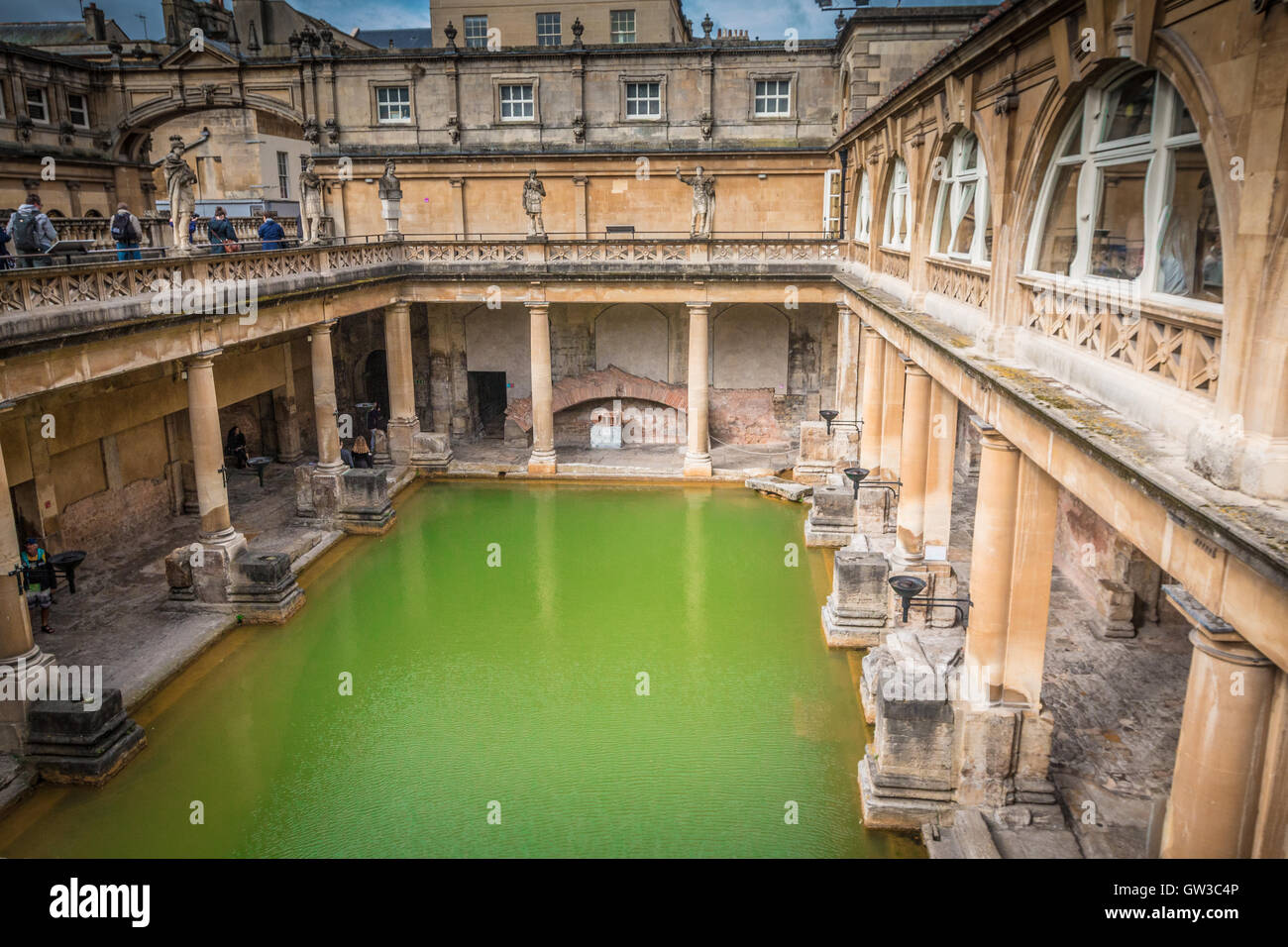 Thermal pool in Bath England - Stock Image