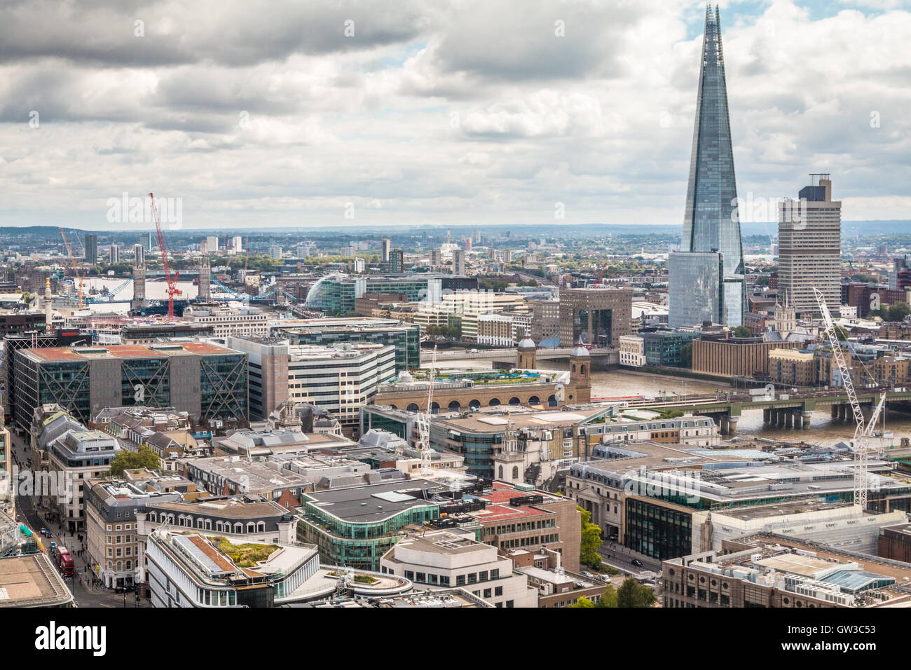 Skyline of London England Stock Photo
