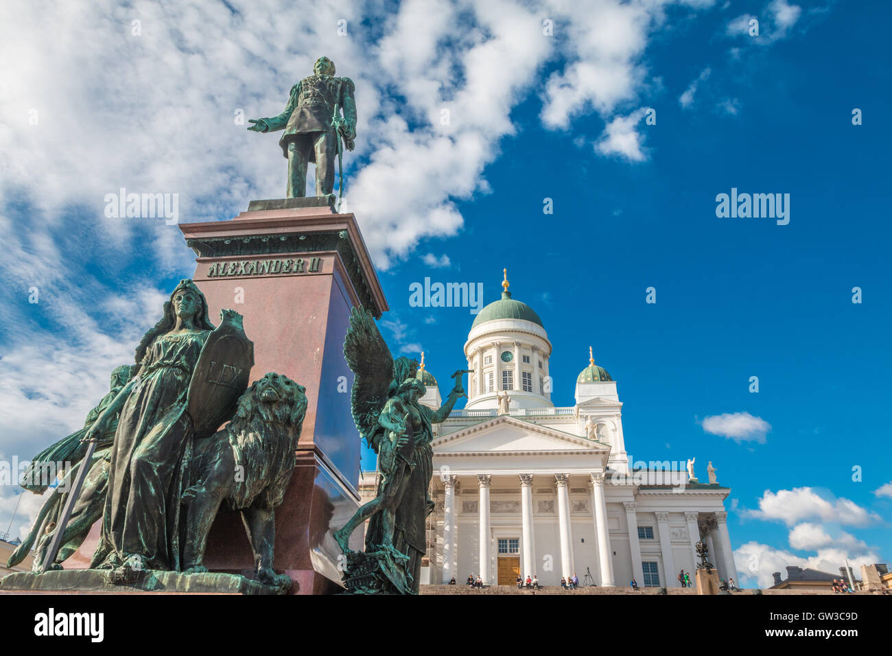 Helsinki Cathedral in Finland - Stock Image