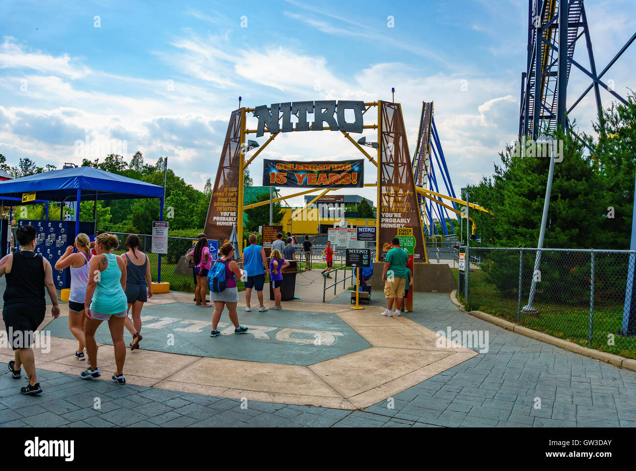 The beautiful Six Flags Great Adventure amusement park  New