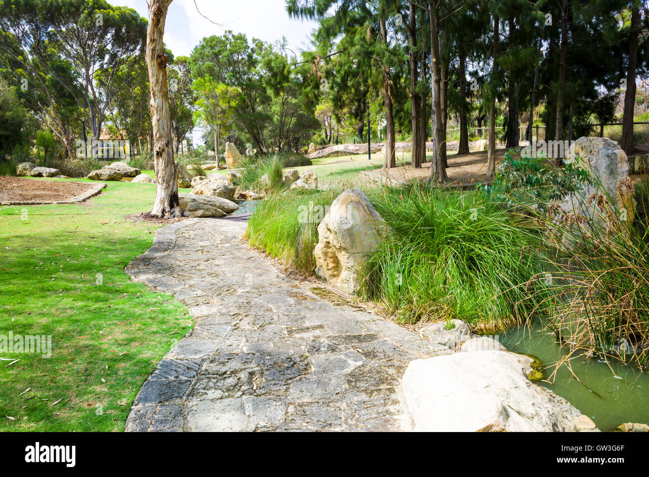 Parks gardens and Walks in Joondalup Western Australia Stock Photo