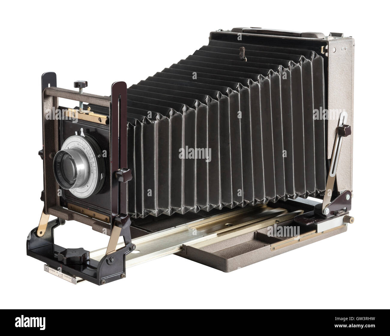 Antique Kodak Master View 8X10 inch view camera with 12 inch Commercial Ektar lens - Stock Image