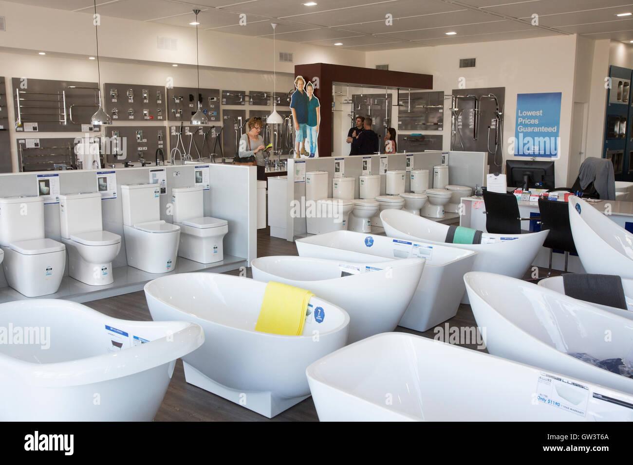 Bathroom Sanitary Ware Showroom Retailer Stock Photos & Bathroom ...