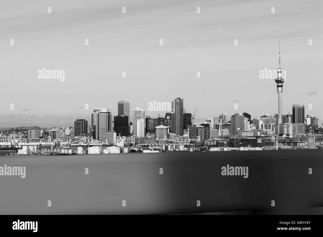 Sky Tower, Auckland City, North Island, New Zealand - Stock Image