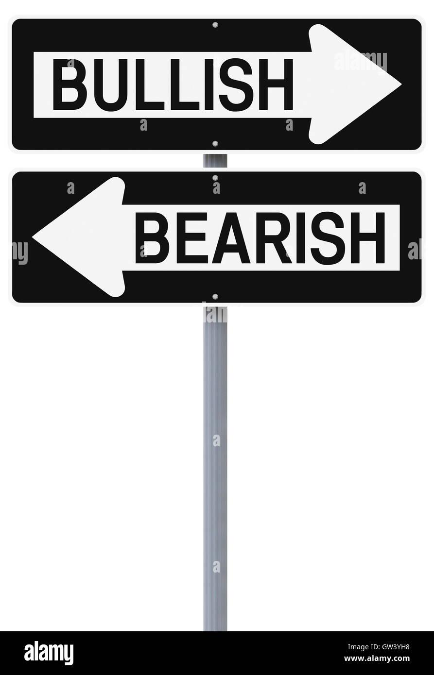 Bullish or Bearish - Stock Image