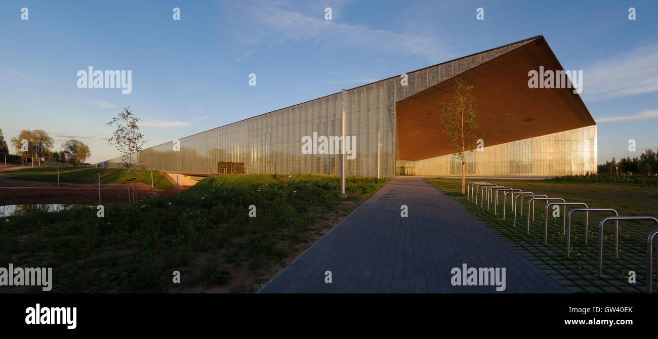 Estonian National Museum main building. 9th september 2016 Tartu. Estonia - Stock Image