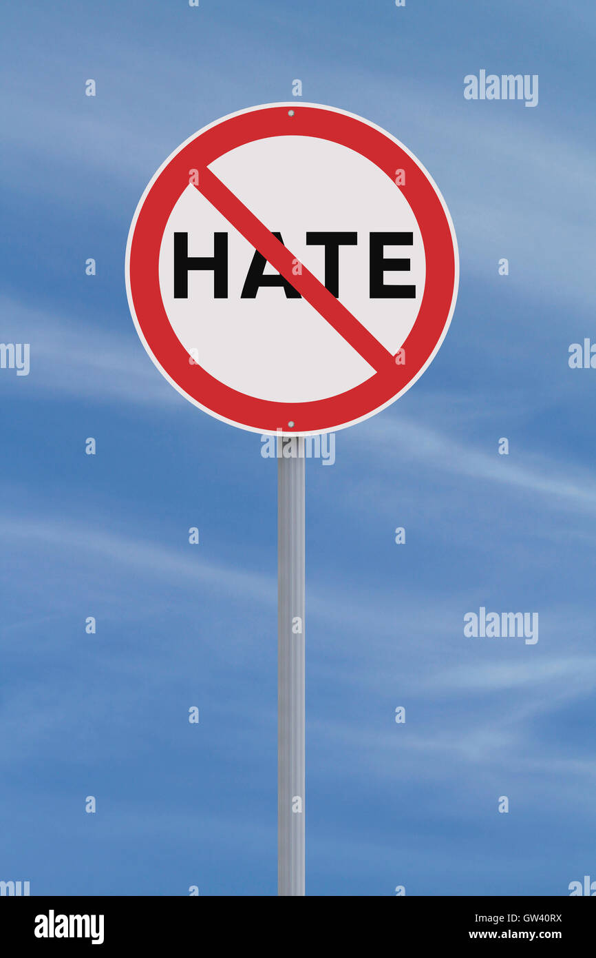 No to Hate - Stock Image