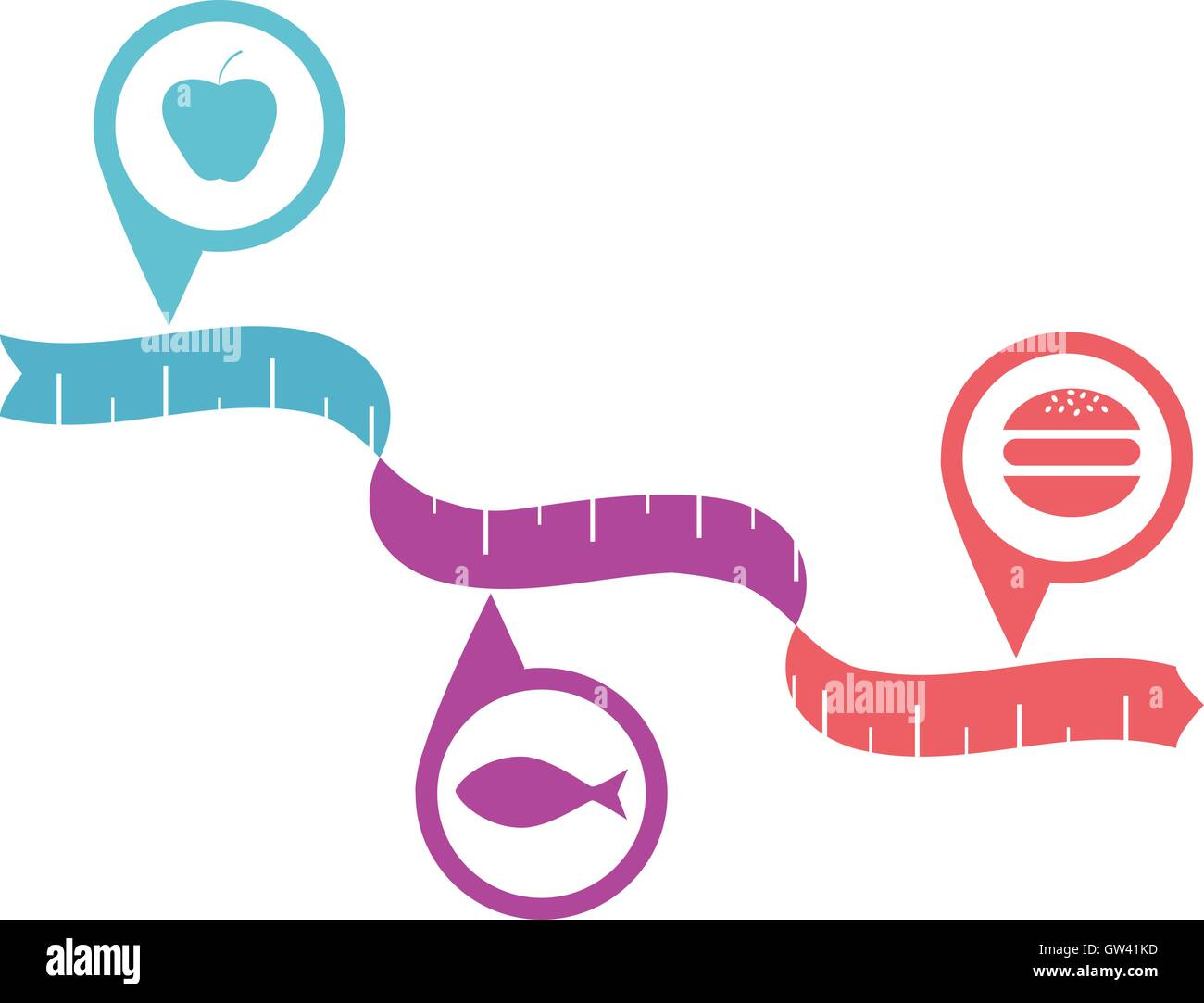 Healhty diet concept - Stock Image