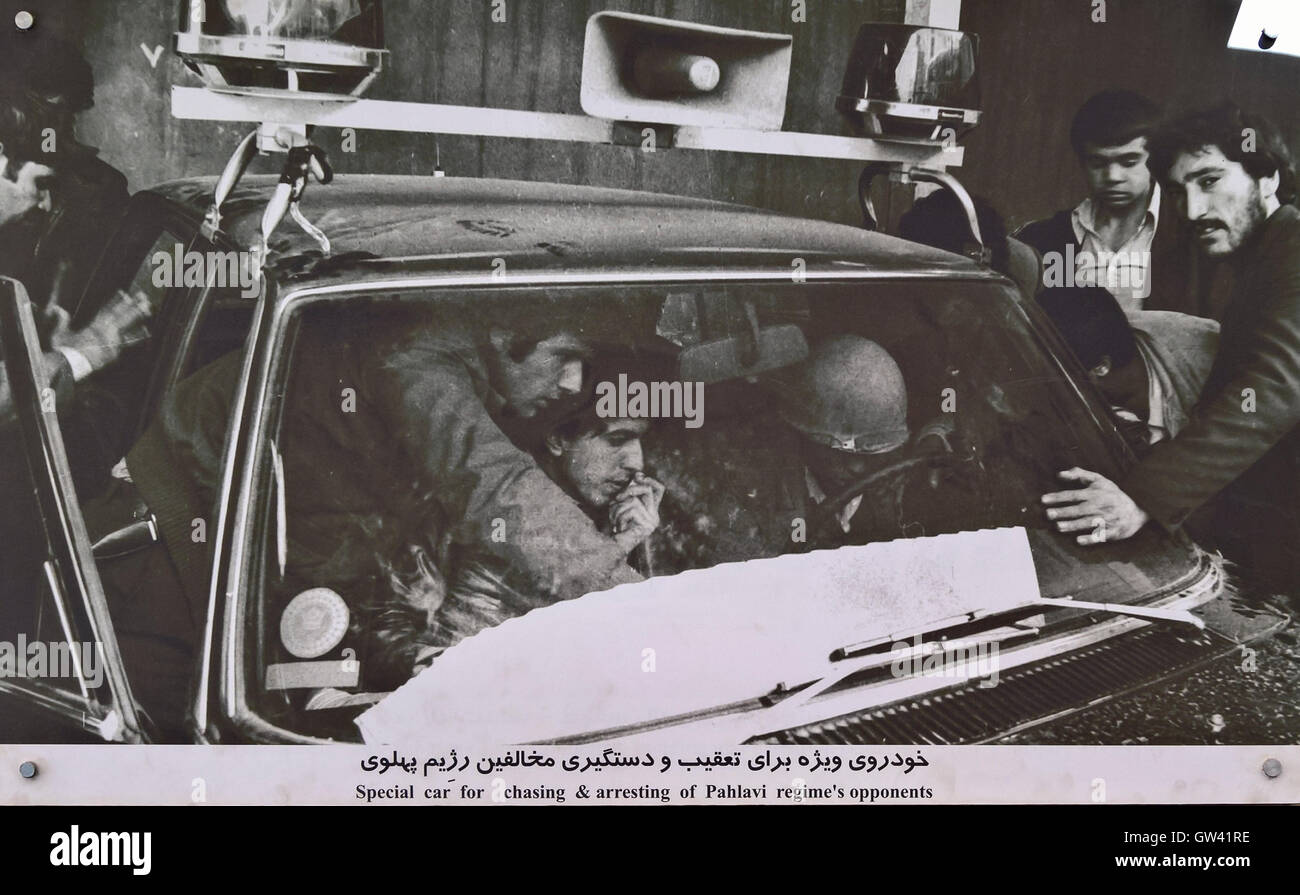 IR-THR-055 Historical Picture Of Car Used By SAVAK Anti Sabotage Joint Committee To Arrest Political Opponents Stock Photo