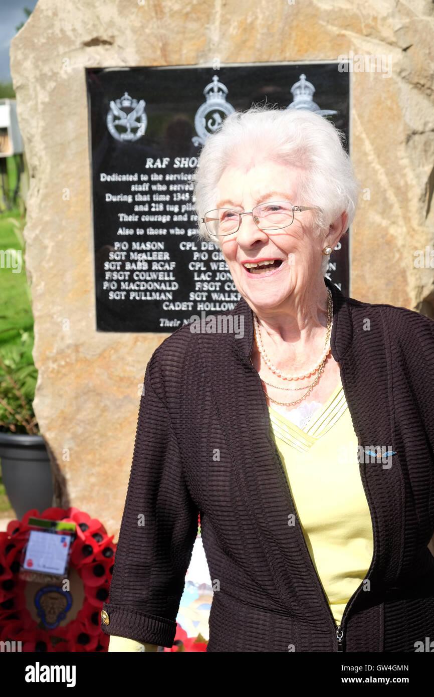 Shobdon airfield, Herefordshire, UK. 11th September, 2016. Mrs Joan Walpole a former WAAF based at RAF Shobdon now - Stock Image