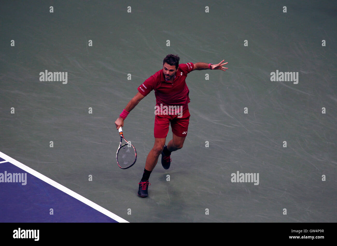 New York, United States. 11th Sep, 2016. Switzerland's Stan Warwinka during the United States Open Tennis Championships - Stock Image