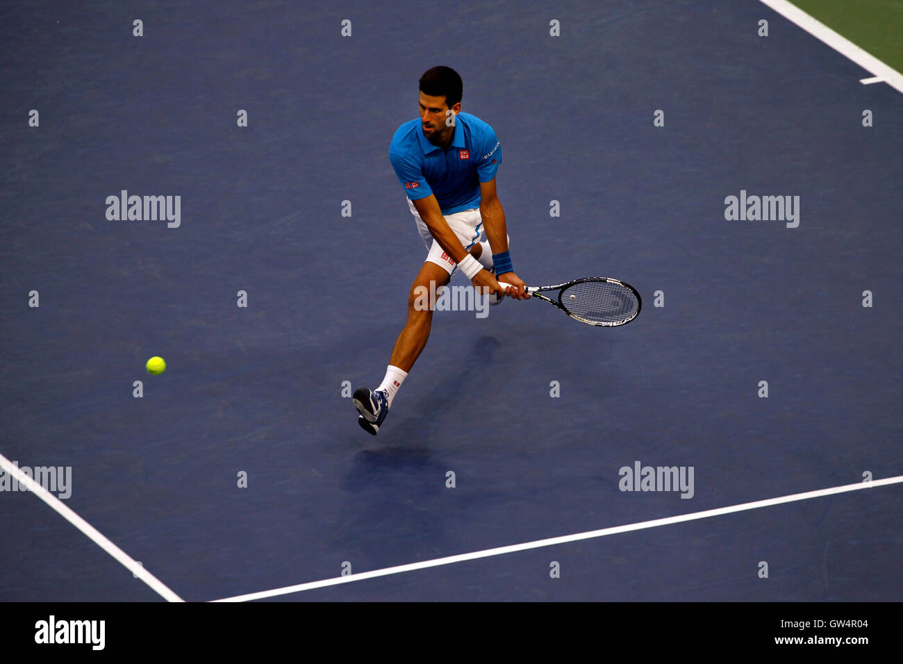 New York, United States. 11th Sep, 2016. Novak Djokovic during the United States Open Tennis Championships Final - Stock Image
