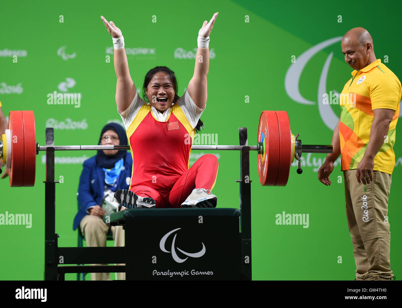 Taoying Fu 4 Paralympic medals in powerlifting