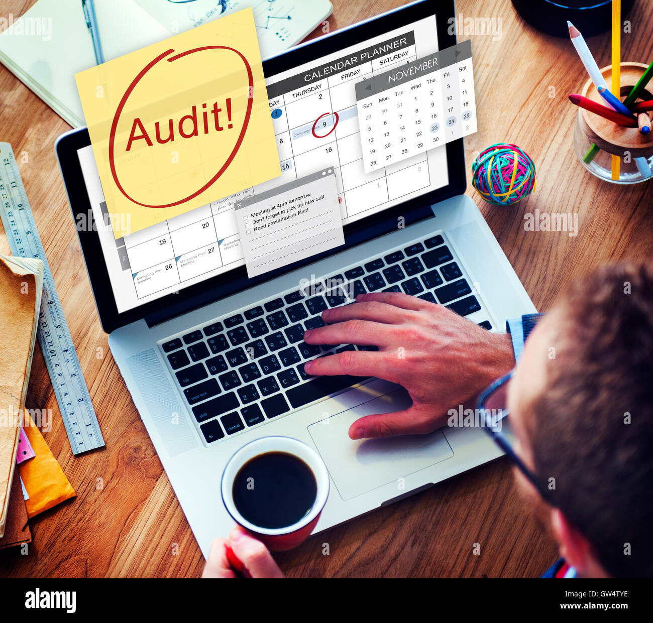 Audit Accounting Bookkeeping Credit Debt Finance Concept - Stock Image