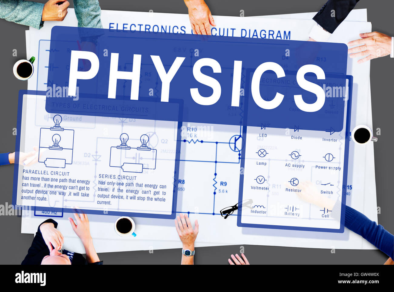 Physics Complex Experiment Formula Function Concept - Stock Image