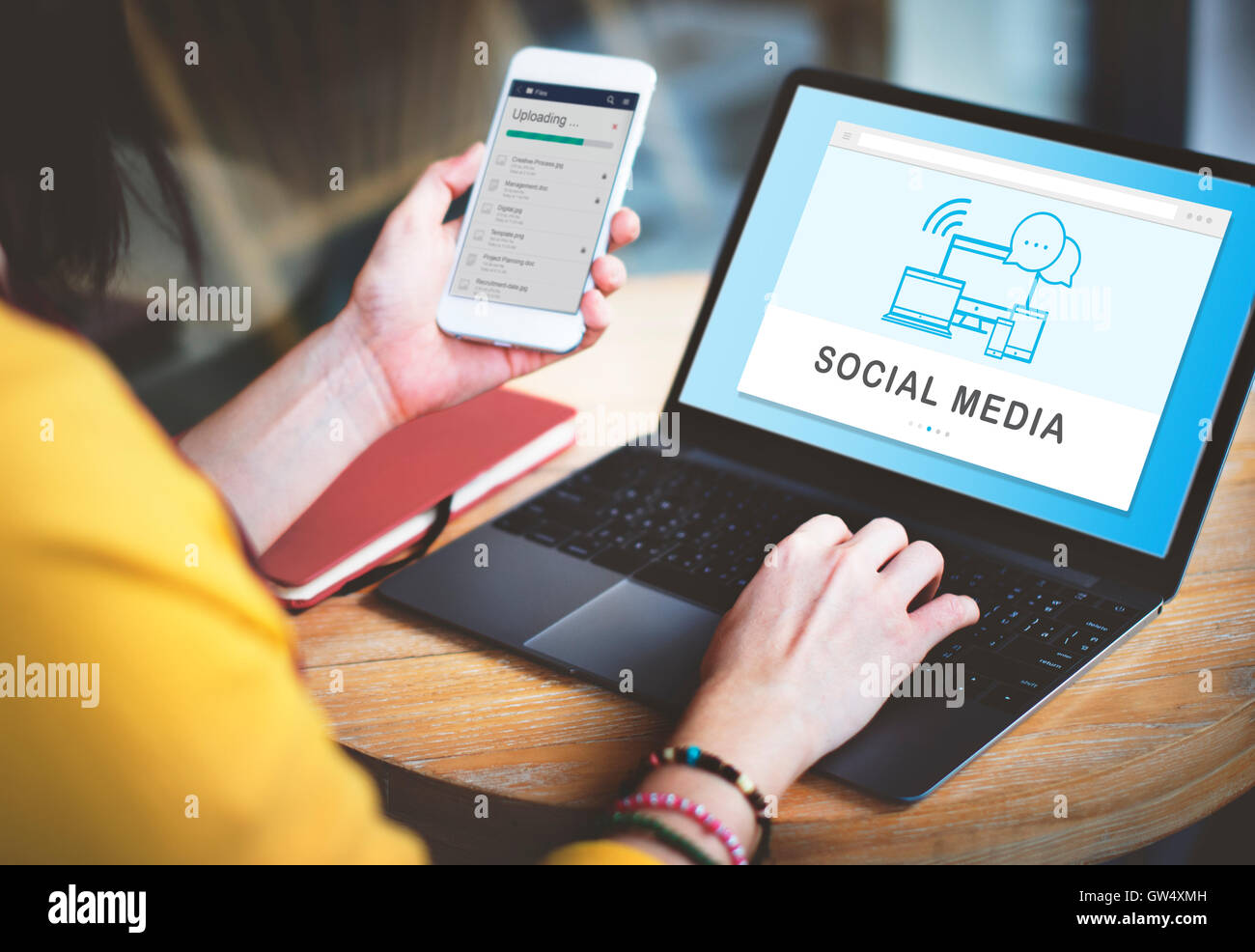 Social Media Devices Internet Concept - Stock Image