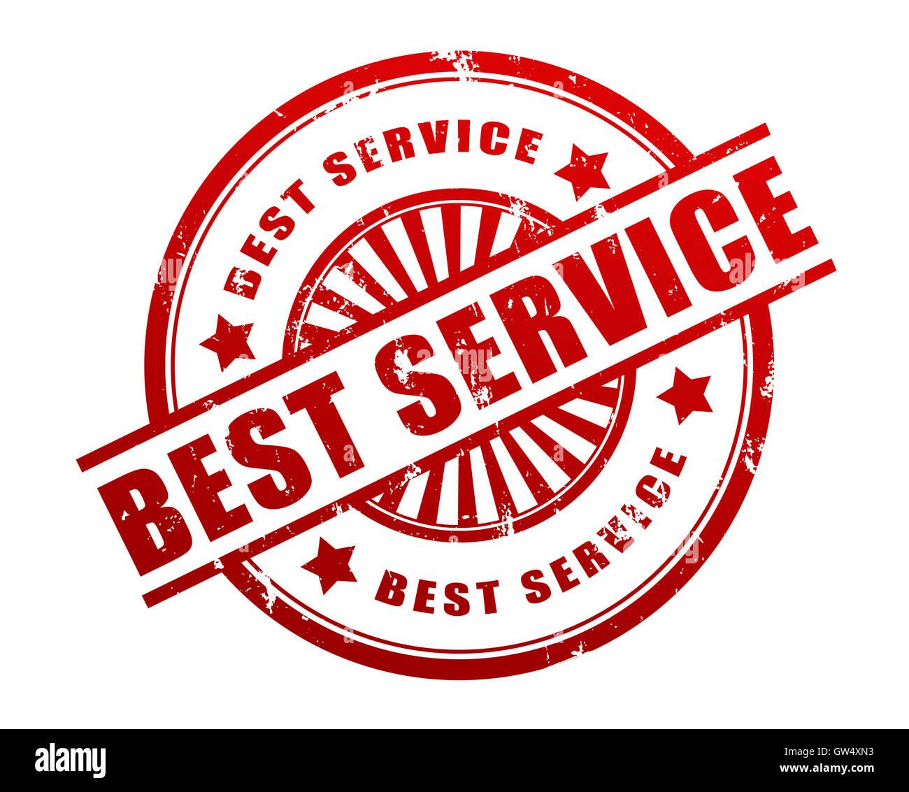 best service stamp concept  3d illustration - Stock Image