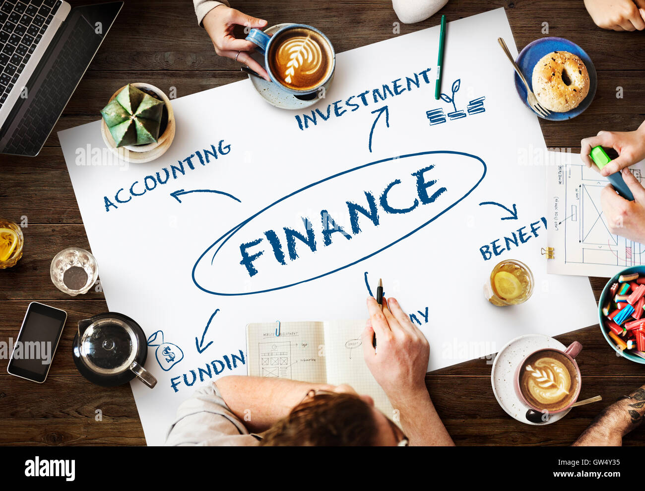 Finance Funding Commerce Business Concept - Stock Image