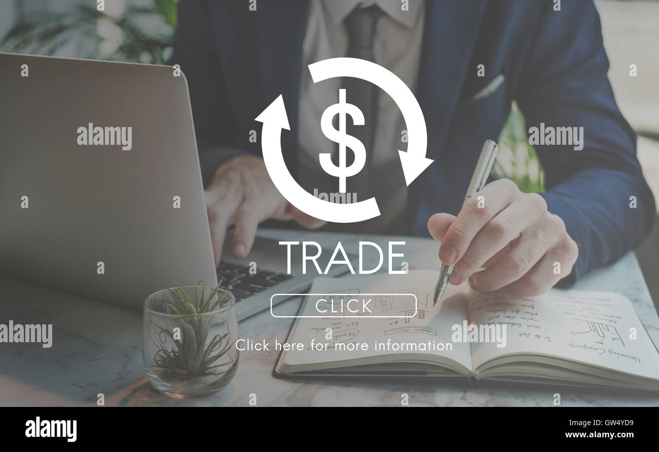 Trade Business Cycle Economy Financial Concept - Stock Image