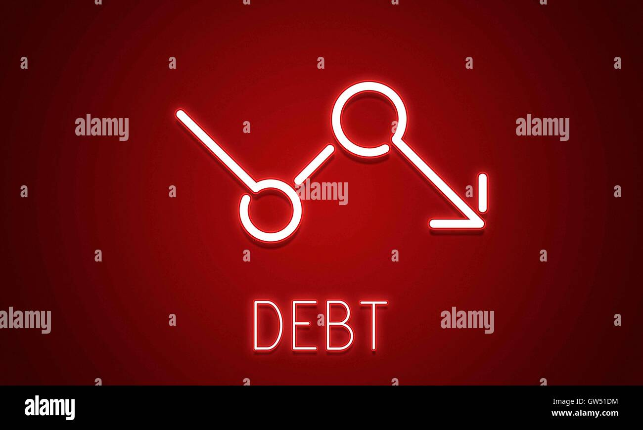 Bankruptcy Critical Recession Inflation Graphic Concept - Stock Image