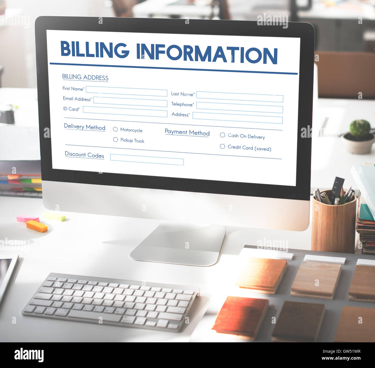 Invoice Billing Information Form Graphic Concept - Stock Image