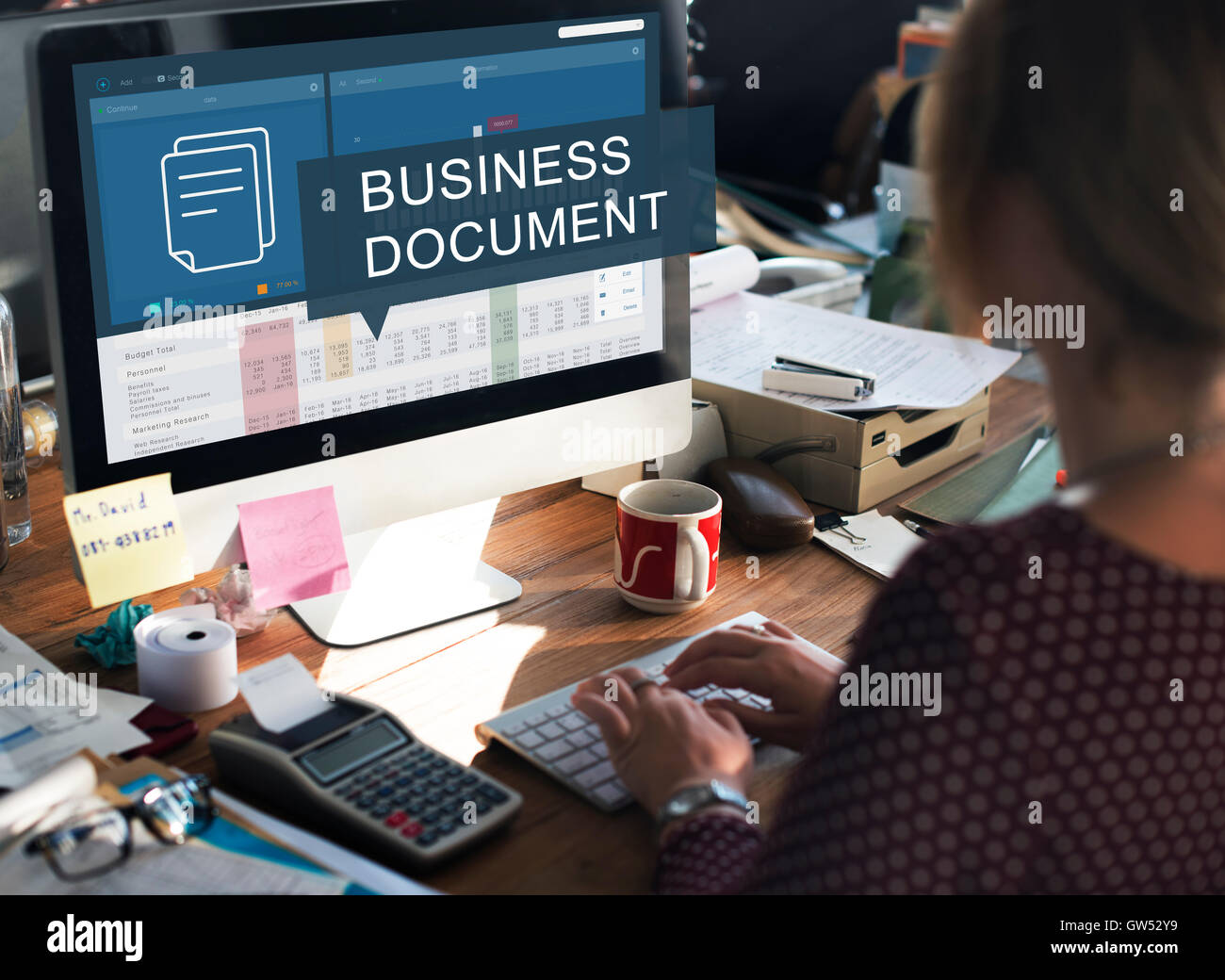 Business Financial Budgeting Plan Concept - Stock Image