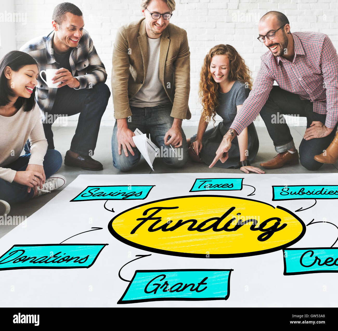 Funding Grant Donation Diagram Concept - Stock Image