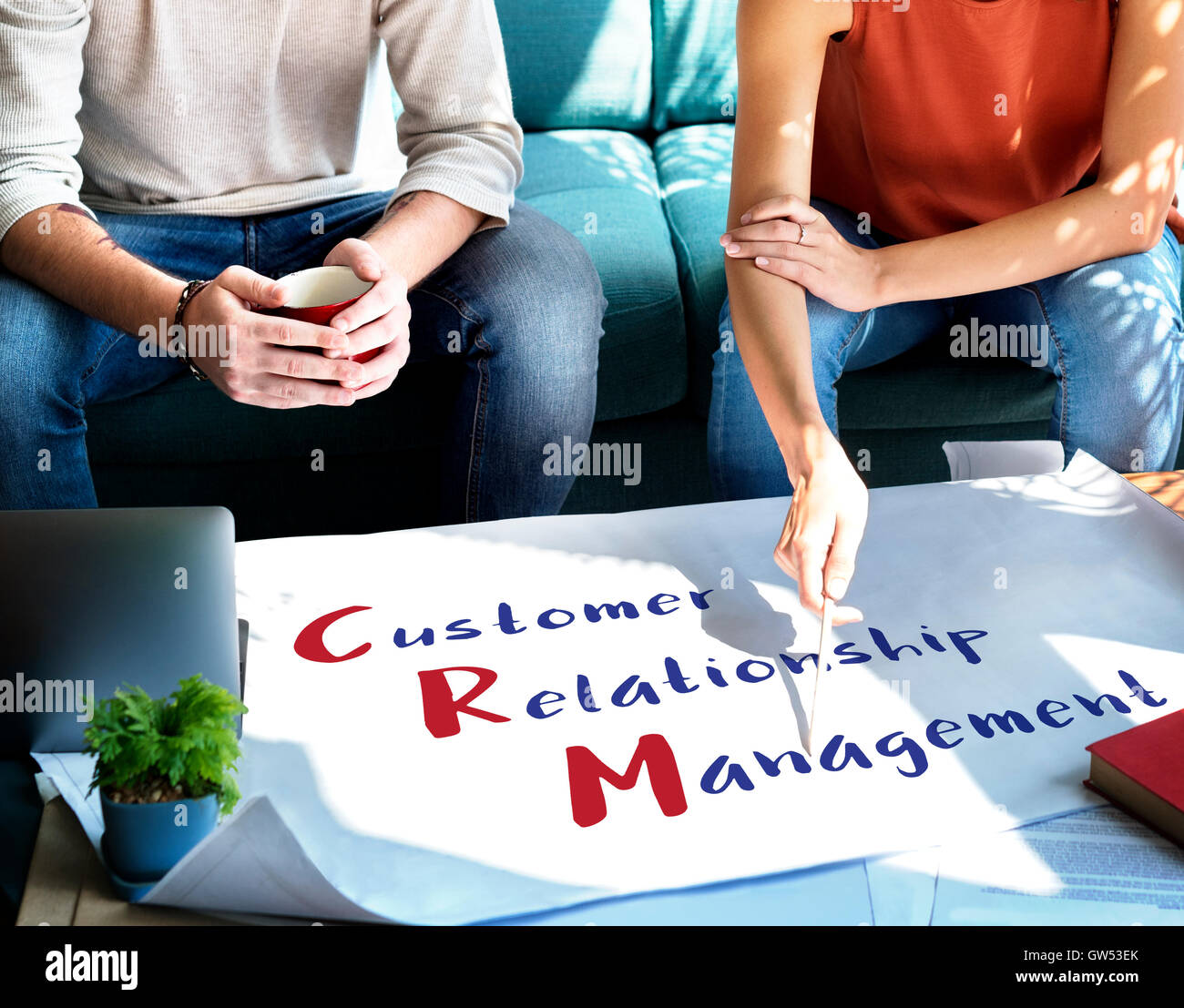 Business Customer Relationship Management Concept - Stock Image