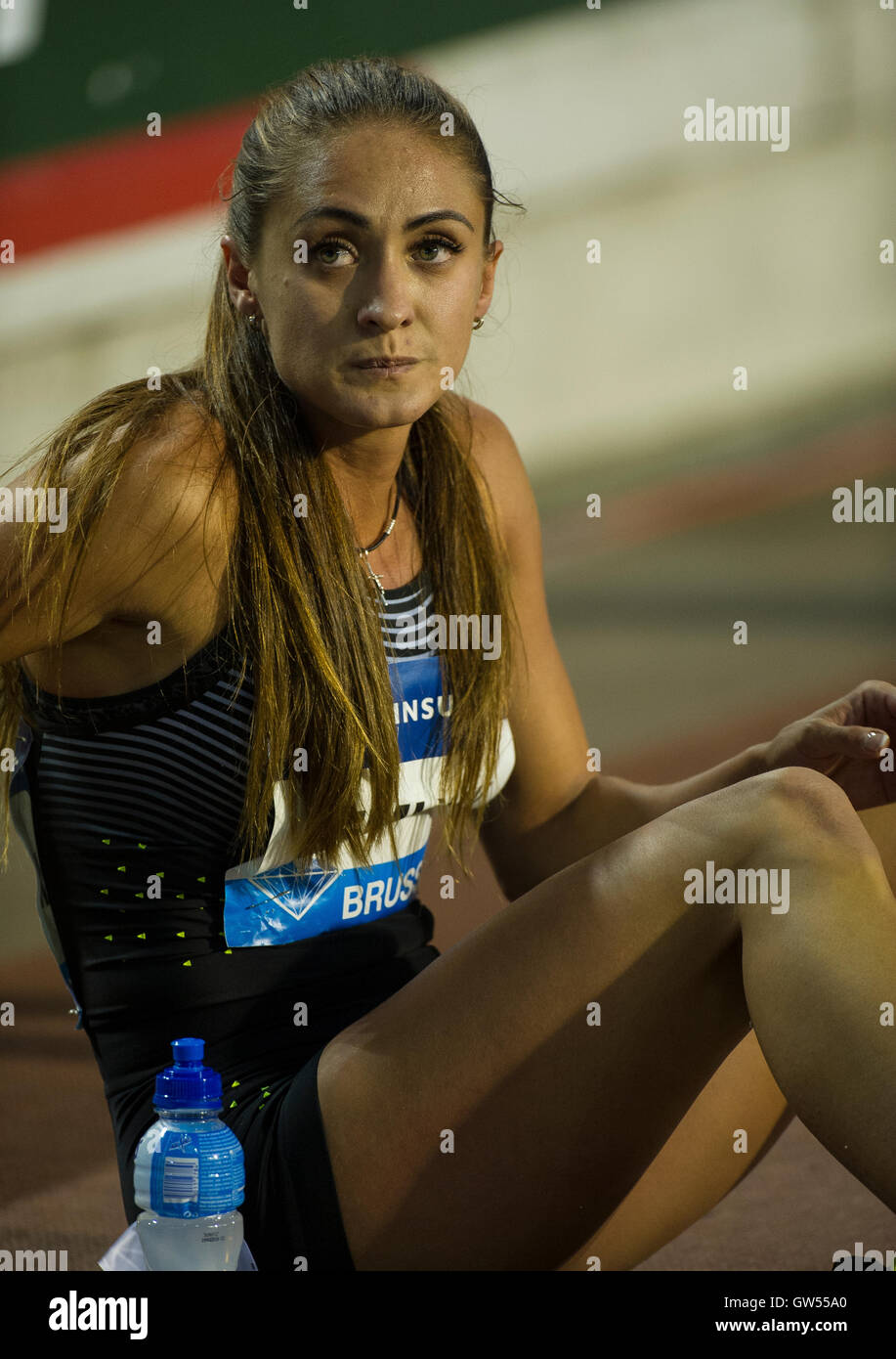 BRUSSELS, BELGIUM - SEPTEMBER 9: Olha Zemlyak competing in the Women's 400m at the AG Insurance Memorial Van - Stock Image