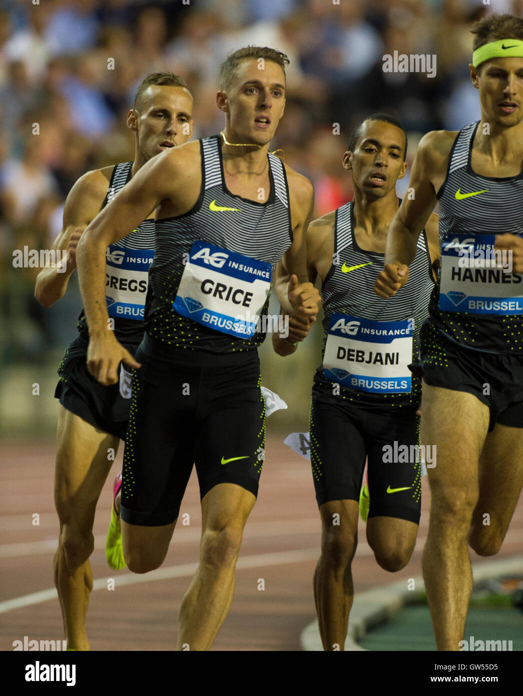 BRUSSELS, BELGIUM - SEPTEMBER 9:  Charlie Grice competing in the Men's 1500m at the AG Insurance Memorial Van - Stock Image