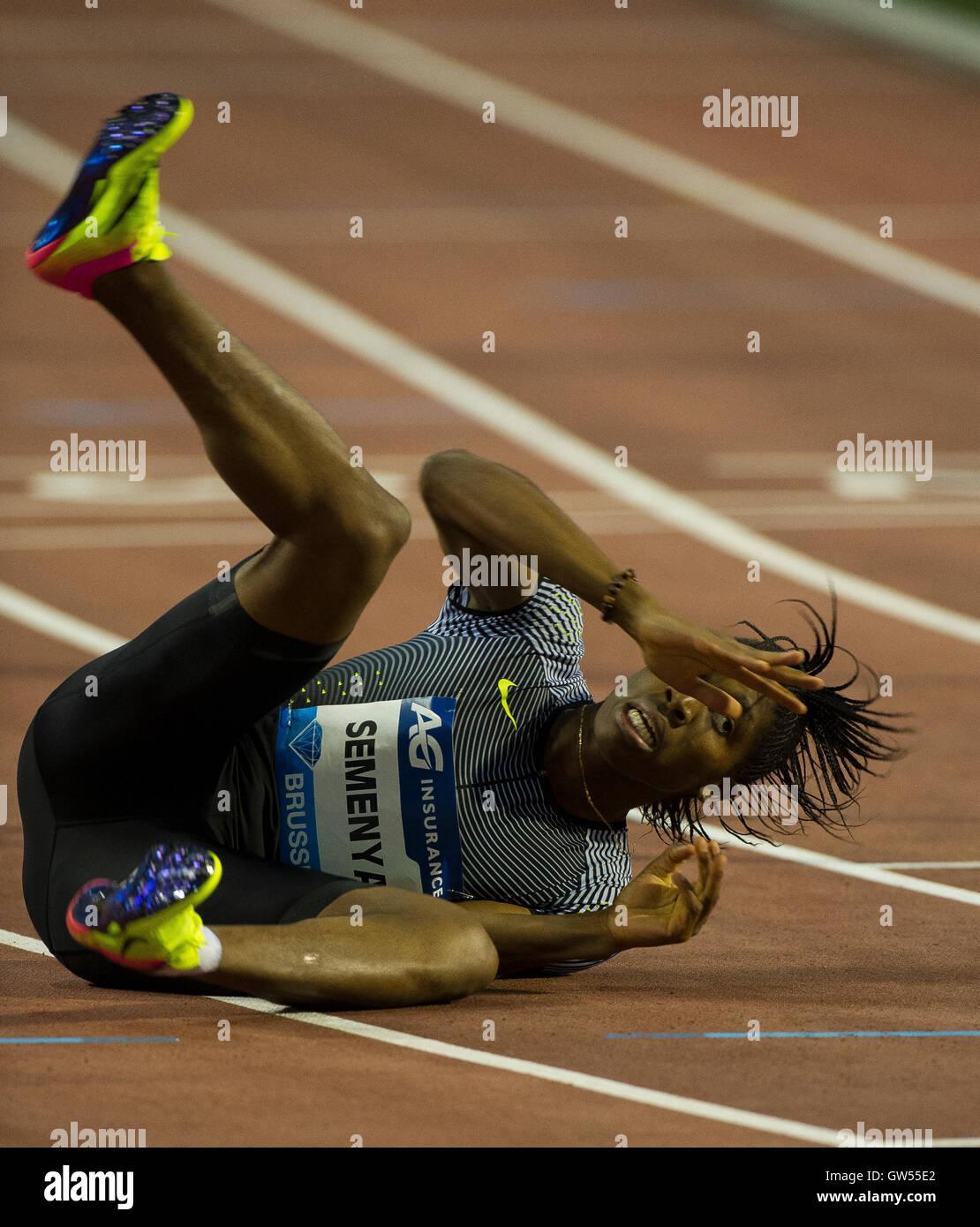 BRUSSELS, BELGIUM - SEPTEMBER 9: Caster Semenya competing in the Women's 400m at the AG Insurance Memorial Van - Stock Image