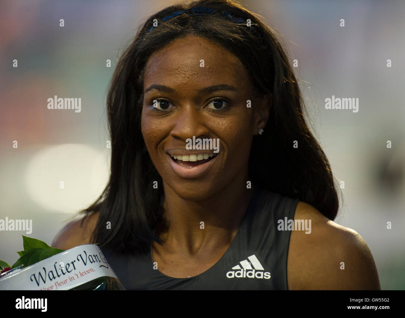 BRUSSELS, BELGIUM - SEPTEMBER 9: Cassandra Tate competing in the Women's 400m Hurdles at the AG Insurance Memorial - Stock Image