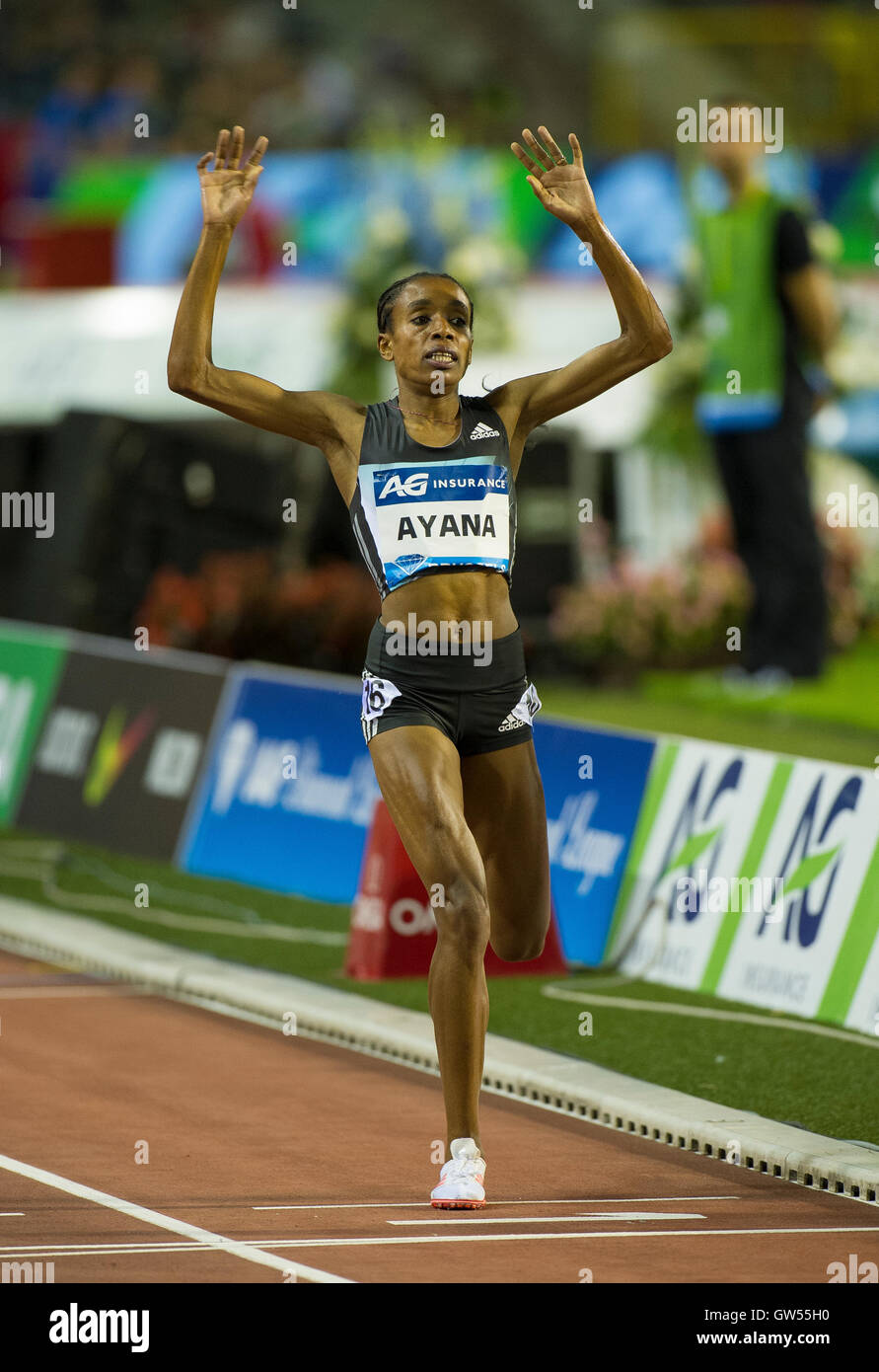 BRUSSELS, BELGIUM - SEPTEMBER 9:  Ayana Almaz of Ethiopia competes during the 5000m Women of the AG Insurance Memorial - Stock Image