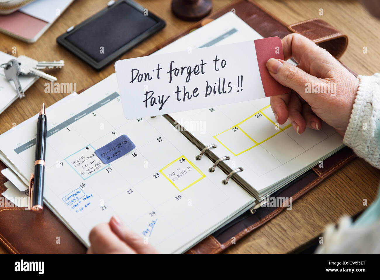 Weekly Planner Diary Organize To Do List Concept - Stock Image