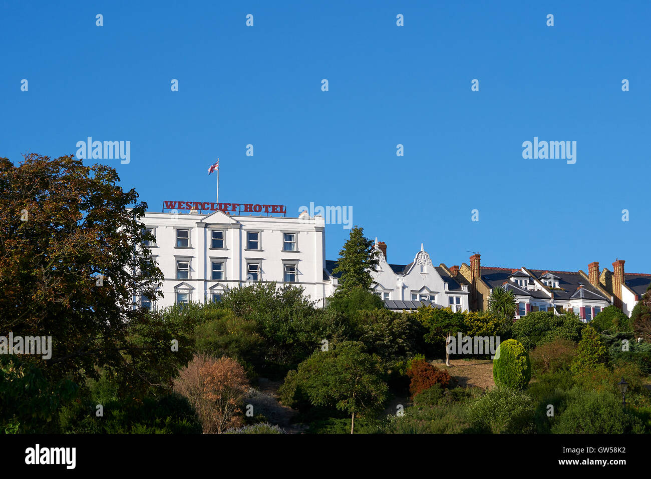 Westcliff Hotel, Southend On Sea, Essex, UK. End of 2016 Summer Stock Photo