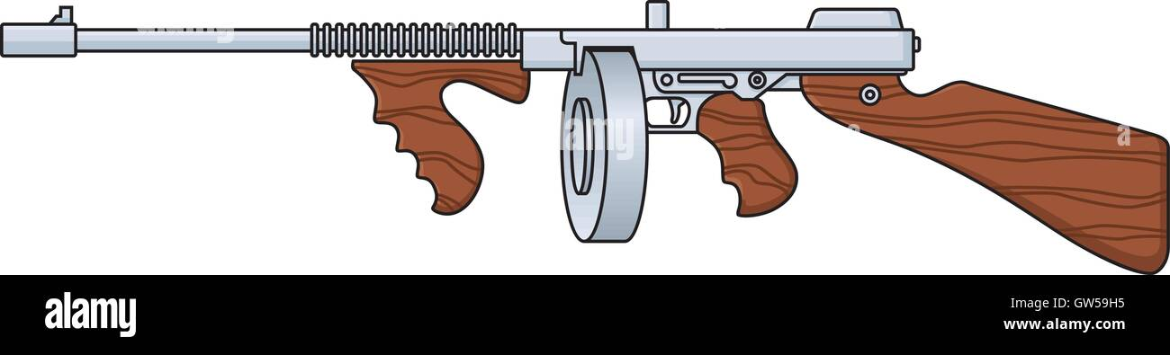 images of a tommy gun