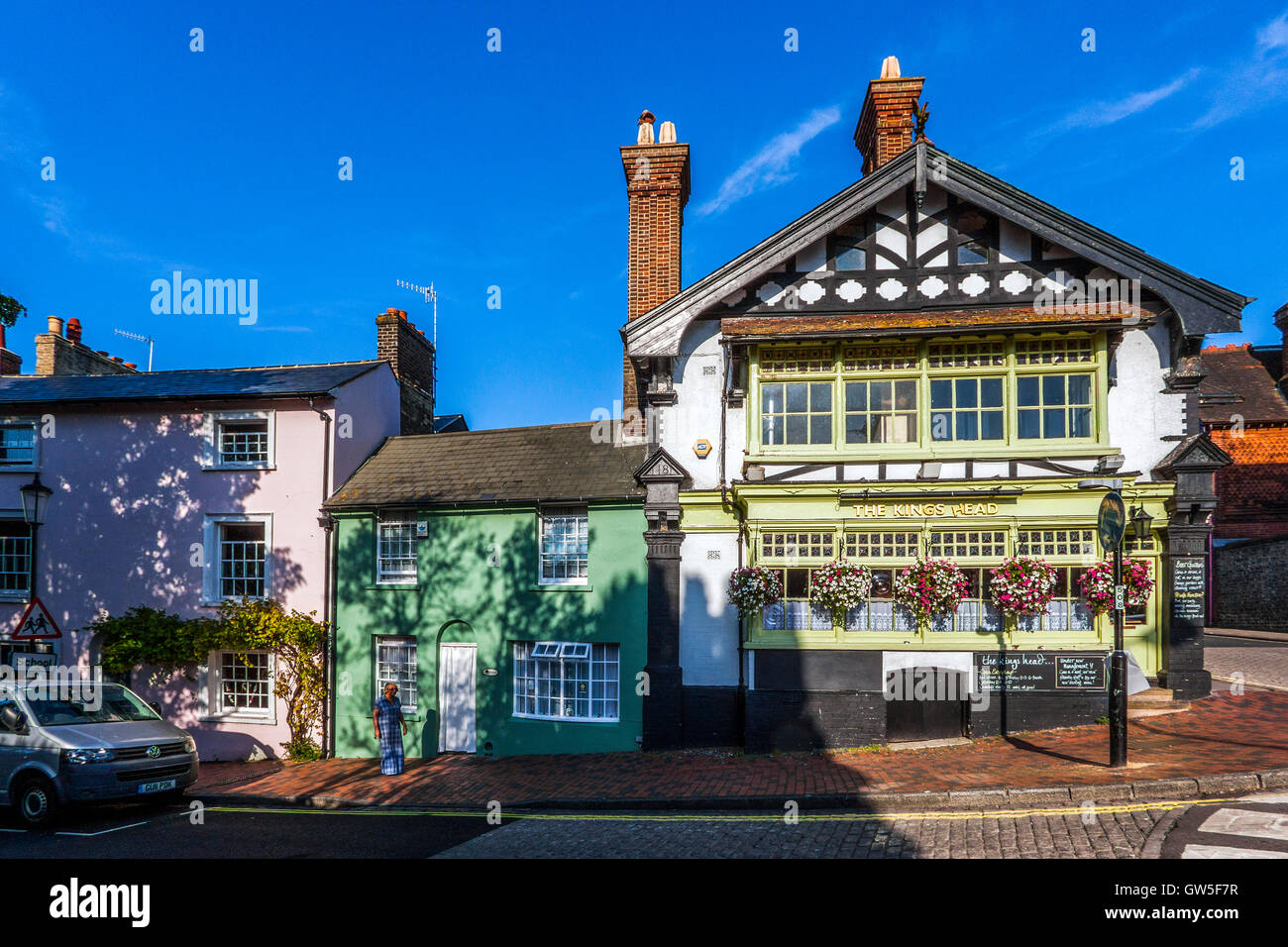 The King's Head Public House, Lewes, Sussex - Stock Image