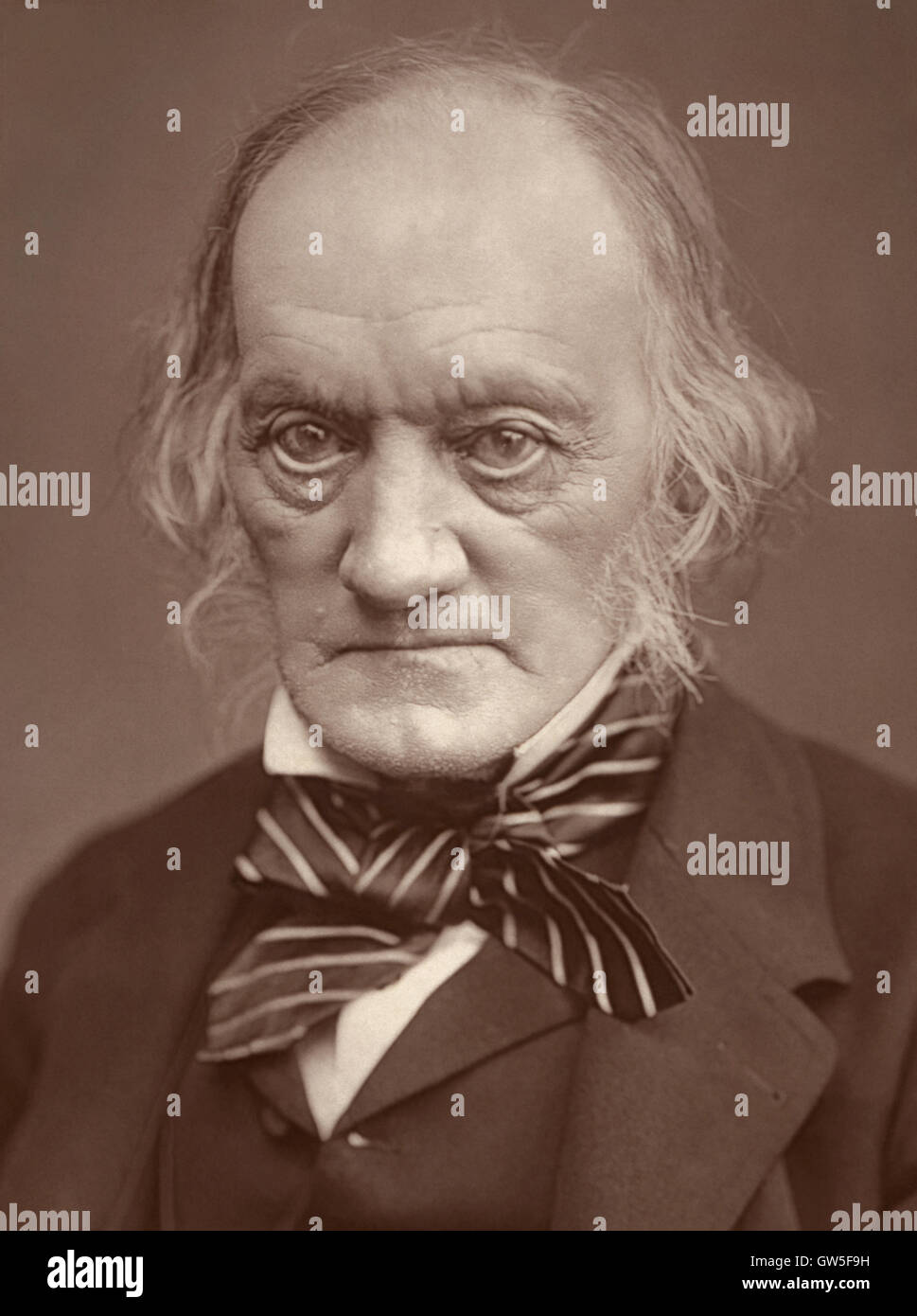 Sir Richard Owen KCB FRS (1804-1892) English biologist, comparative anatomist, and paleontologist who coined the - Stock Image