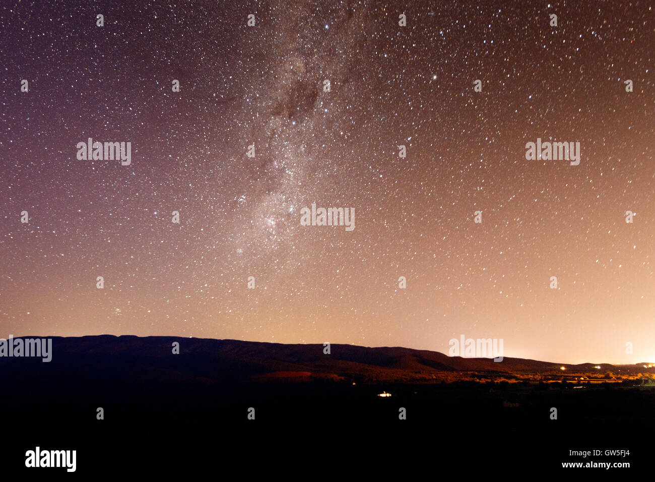 """The Landscape of The Milky Way - The Milky Way is the galaxy that contains our Solar System. Its name """"milky"""" is derived from it Stock Photo"""
