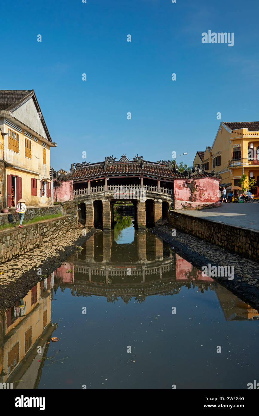 Historic Japanese Covered Bridge (5th-6th century), Hoi An (UNESCO World Heritage Site), Vietnam - Stock Image