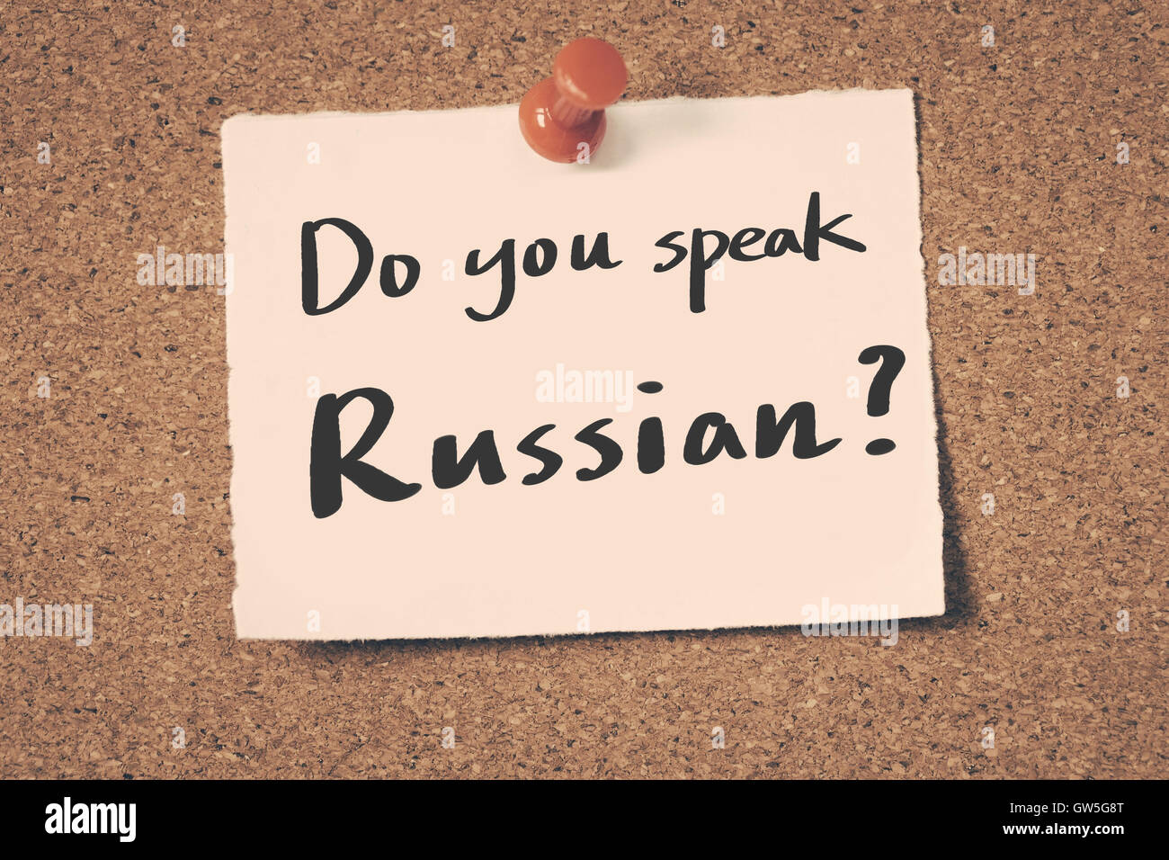 Do you speak Russian? - Stock Image