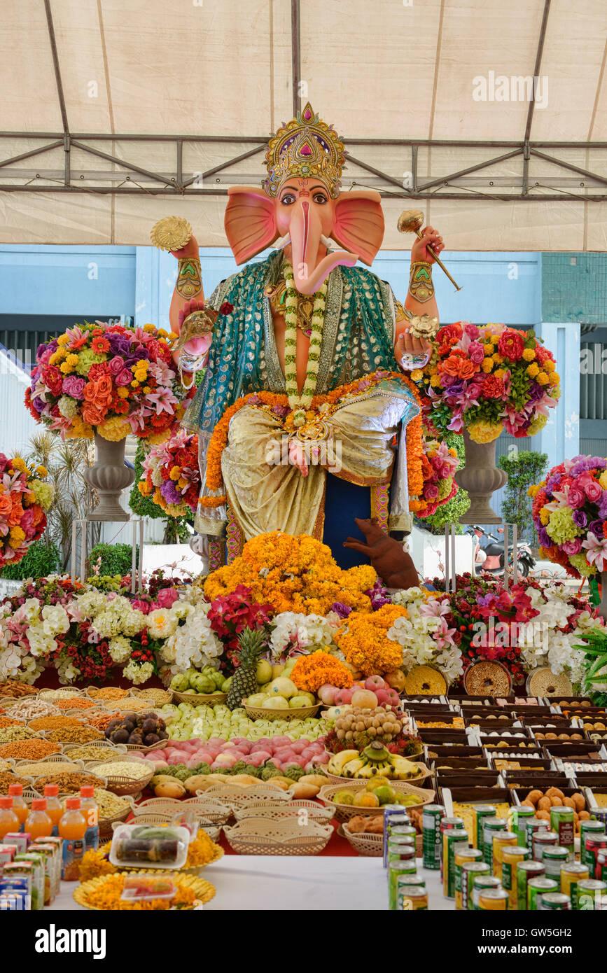 Shri Ganesha festival, Bangkok, Thailand - Stock Image