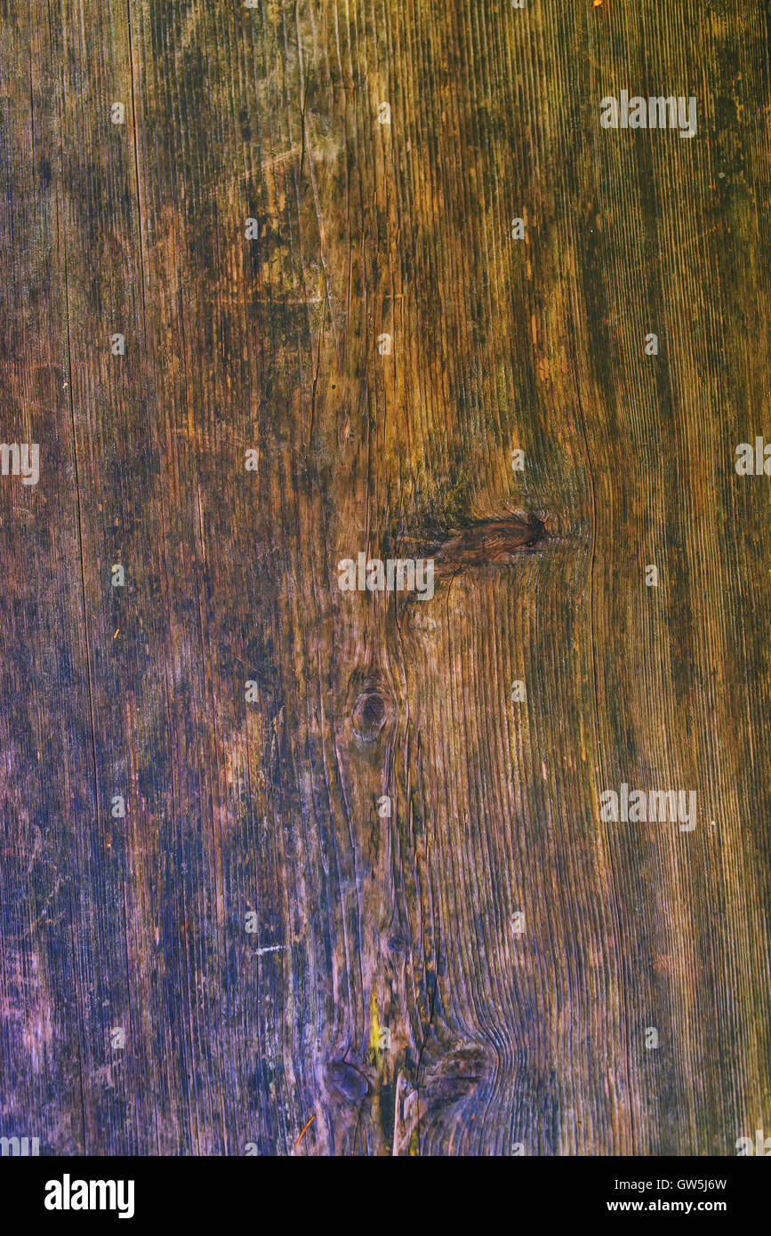 Old wooden plank background, obsolete board surface - Stock Image