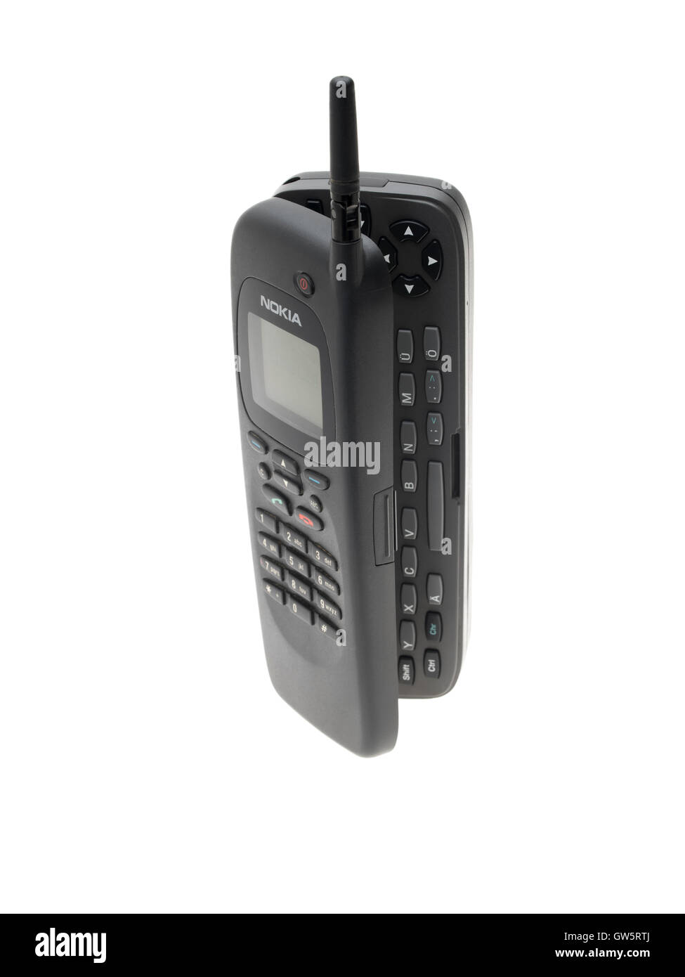 Nokia 9000 RAE-1N Communicator Phone from Finland  introduced in 1996. first smartphone on the market - Stock Image