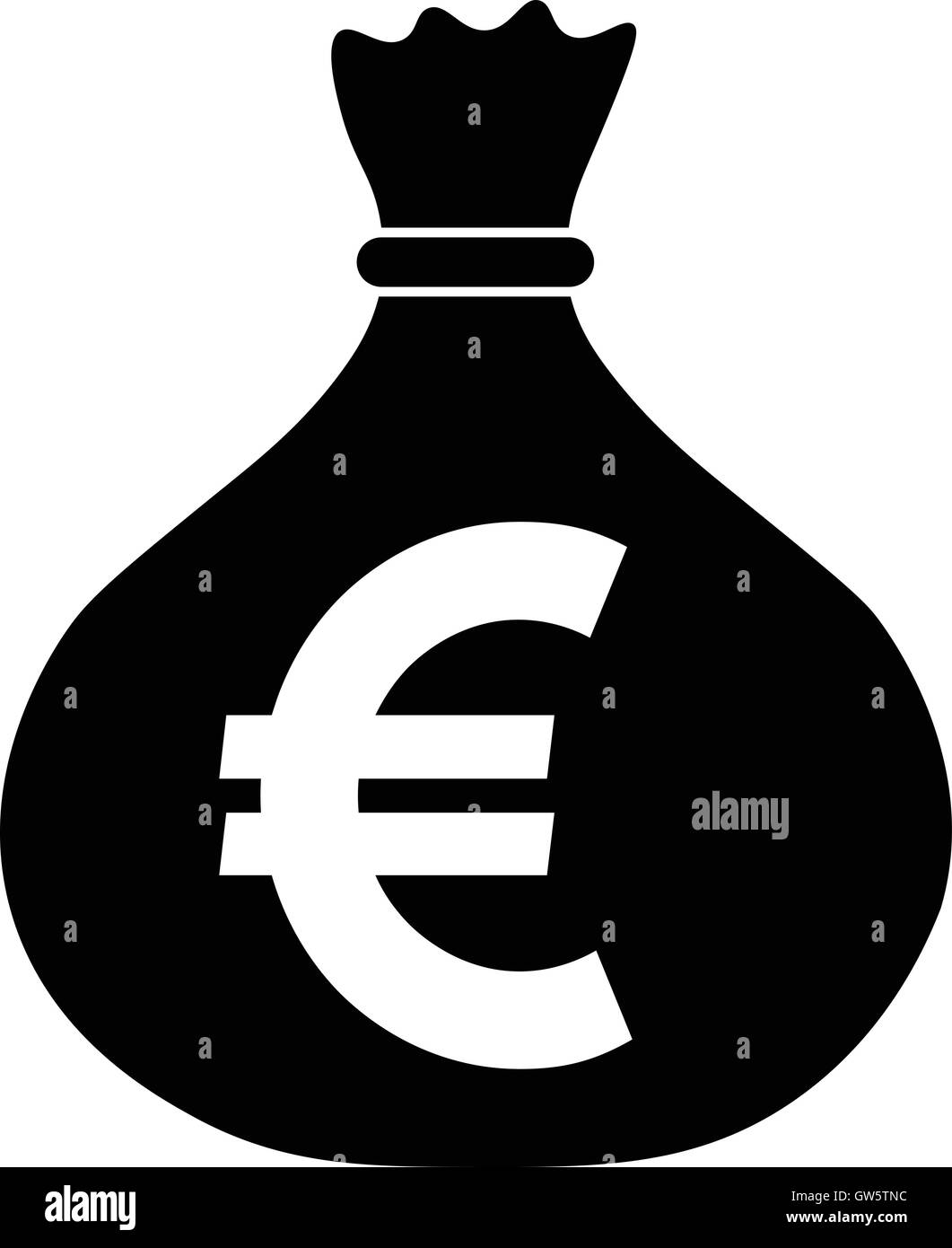Money bag icon with euro symbol eur currency symbol vector stock money bag icon with euro symbol eur currency symbol vector illustration biocorpaavc Images