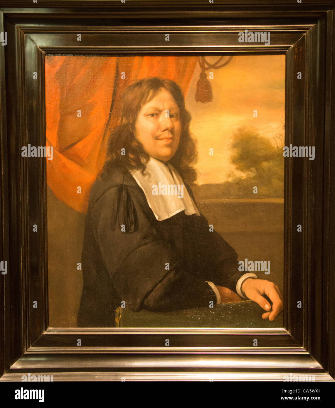 'selfportrait' 1670 jan havicksz steen - Stock Image